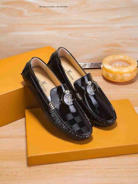 Chaussures de style britanniques pour hommes de haute qualité sculptées en cuir véritable pour hommes d'affaires