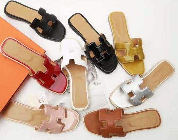 size 35-41 Women Designer Sandals luxury slide Leather with Mix Colors Dust Bag Designer Shoes Luxury Slide Summer Wide Flat Sandals Slipper