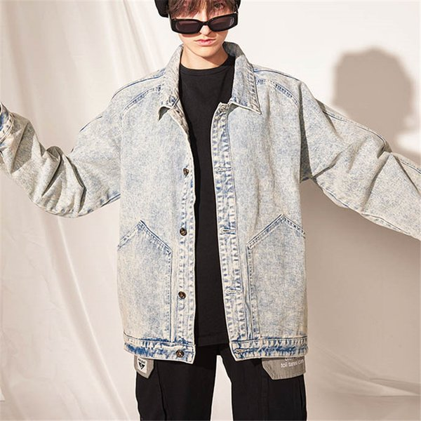Hip Hop Designer Brand Lapel Neck Single Breasted Mens Womens Denim Jackets Casual Fashion Loose Jacket Top Quality Outerwear B101744V