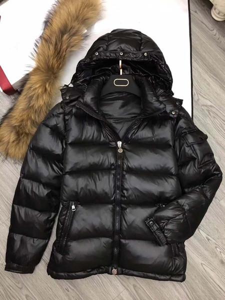 M364 Человек Зимнее Пальто Повседневная Толстая Куртка из Анорака Натуральный Мех Енота Утка Вниз С Капюшоном Hommes Manteau Manteau Высокое Качество