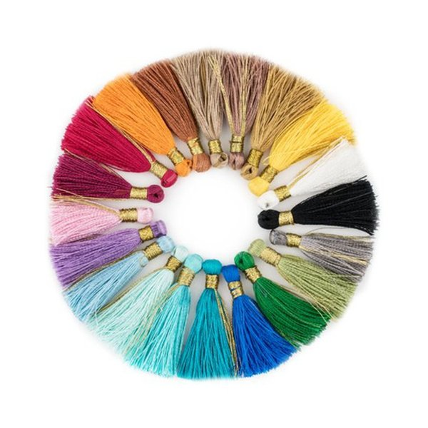 Multicolor Tassel Handmade Braided Rayon Cord National Style Charms For DIY Accessories Handbag Car Crafts Buckle Hanging Gift 2019