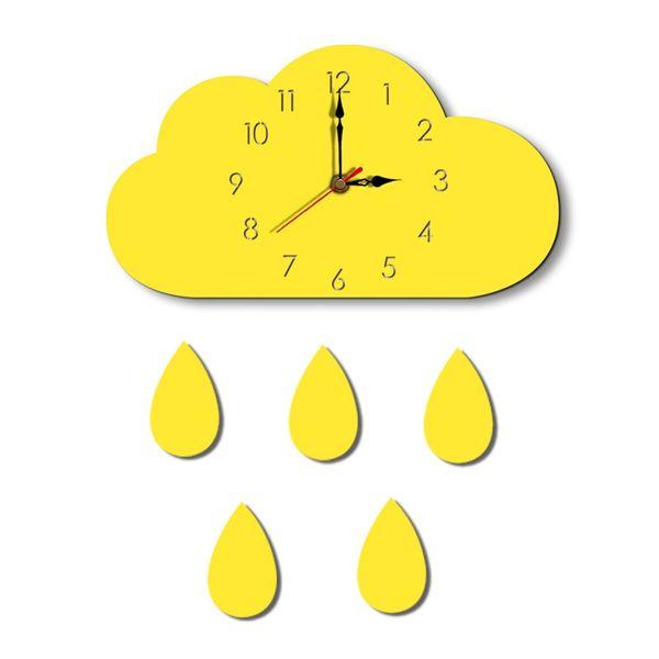Nordic Cloud Raindrop Shaped Wall Clock Kids Room Decor Baby Gender Neutral Wall Clock Nursery Baby Gift