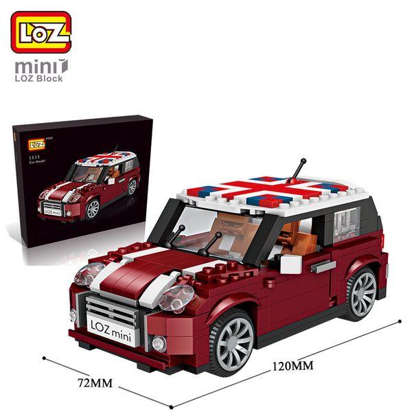 Loz1111 piccola particella elementare modello mini automobile 124 splicing building block giocattolo intelligente intelligente