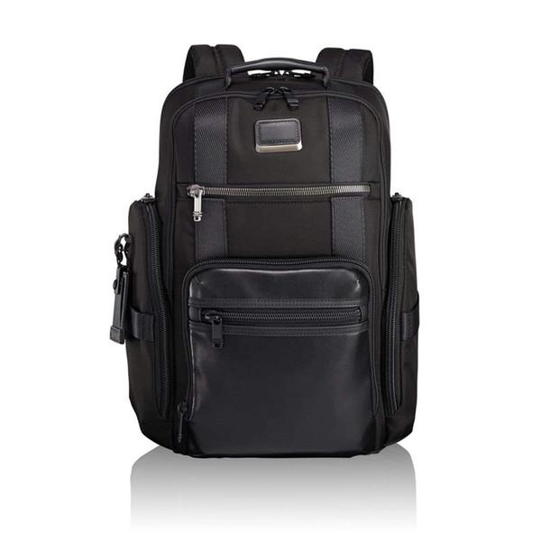 Vendita calda TUMI Ballistic Nylon 232389 Uomini Business Casual Grande capacità zaino Laptop Bag Nero Blu Mix Way Business Casual Fashion