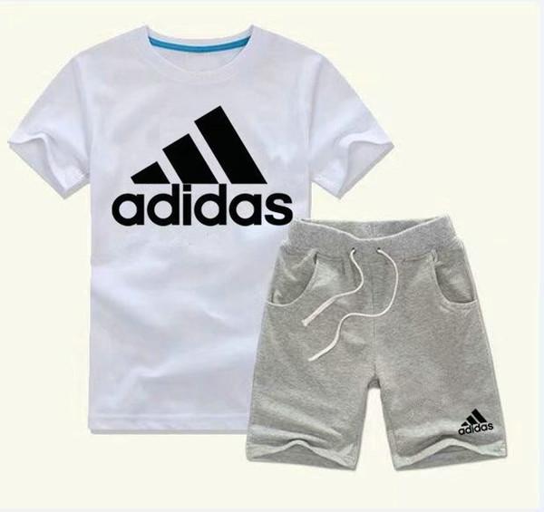 Großhandel Junge Kinder Sets Kinder T Shirt Und Kurze Hose Kinder Cotton Satz Baby Jungen Mädchen Sommer Baby Sport Klage 2Stk Set A001 Anzug Von