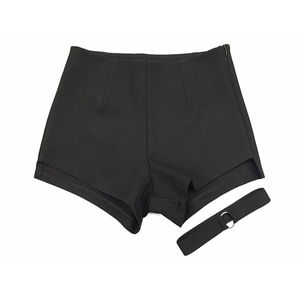 Summer Shorts Women High Waist Sweatpants Rave Fitness Short Feminino Booty Shorts Sexy Korean Hotpants Black Shorts 50f0099 J190430