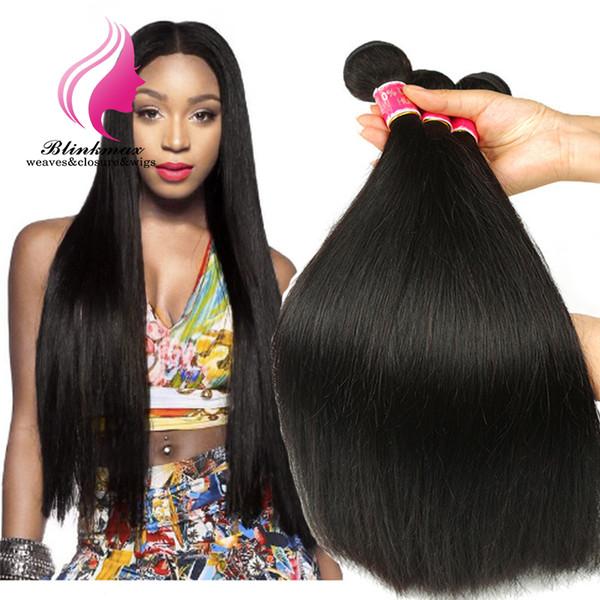 Blinkmax Hair 100 Prozent Großhandelspreis Volles Haar Ausgerichtet Unverarbeitetes, rohes Haar Bündel Gerades Menschenhaar