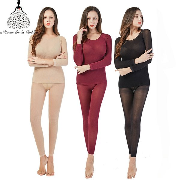 3Pcs/lot Thermal Underwear For Women Warm Long Johns Sexy Seamless Winter Thermal Underwear Set Thermos Intimates Women
