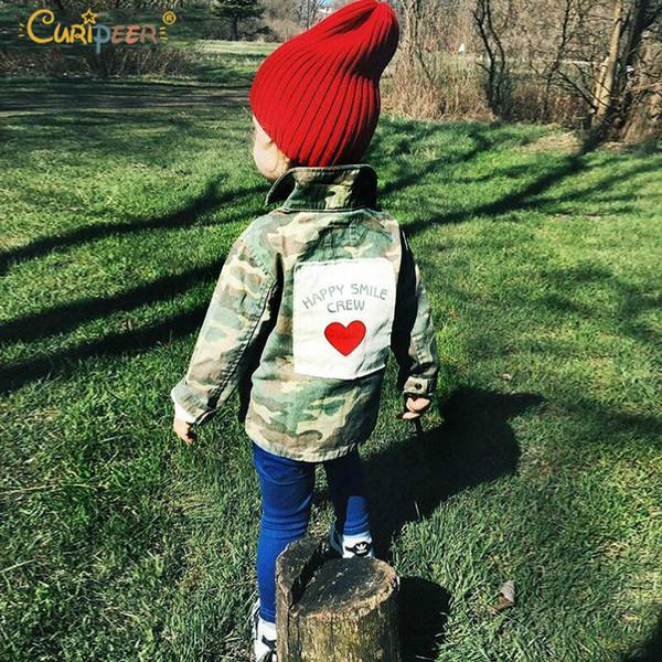 Baby Girls Boys Jackets Cardigan 2019 Fashion Spring Autumn Camouflage Coats Army Children's Windbreaker Outerwear