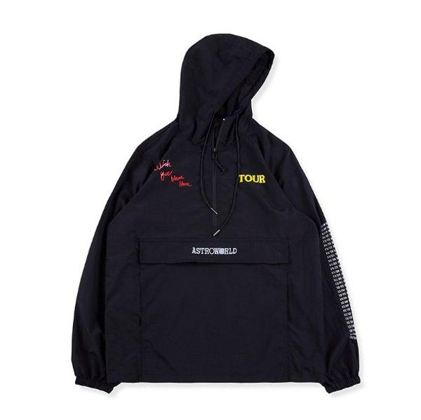 Großhandel Travis Scott AstroWorld Herren Jacken Herren Damen Mäntel Kapuzenjacken Streetwear Hot Sale Schwarz Asian Size S XL Von Blueberry12,
