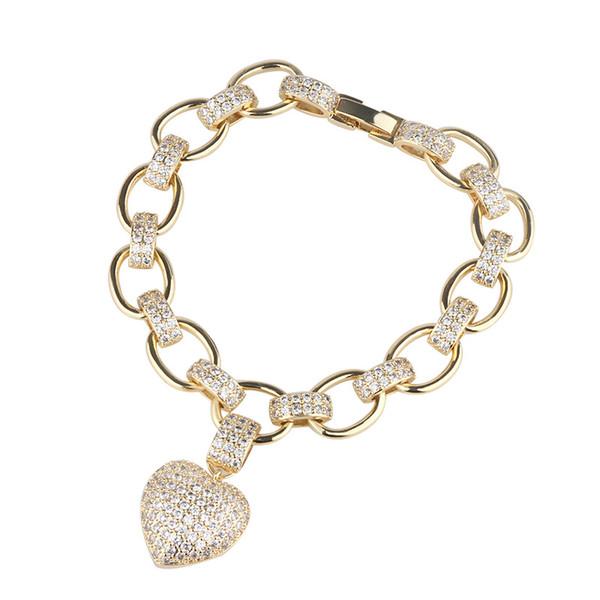 2019 nuova tendenza di design di vendita calda braccialetto zircone tendenza amore stile uomini gioielli sudamericani braccialetto mano e le donne universali
