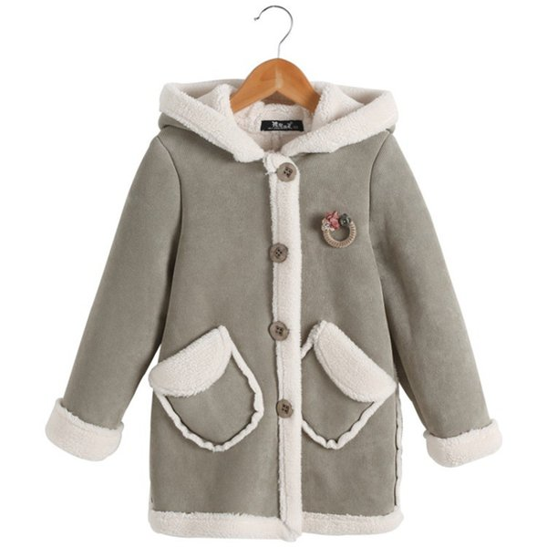 Зима девушки теплые толстые пальто девушка зима Принцесса куртка с капюшоном детские Рождество хлопка-ватник школа снег теплое пальто детские верхняя одежда