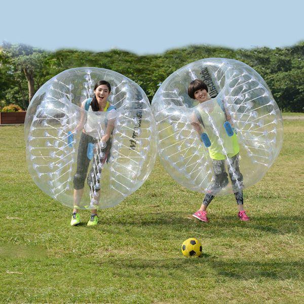 Migliore prezzo gonfiabile all'ingrosso 1m 1.2m 1.5m PVC palla zorb, palla gonfiabile del paraurti, calcio bolla, calcio bolla