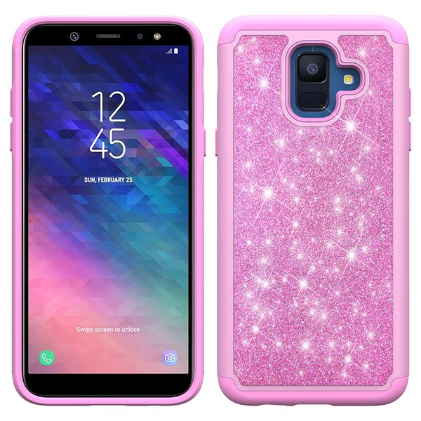reputable site 7c589 96164 TPU+PC Hybrid Glitter Bling Case For Samsung Galaxy J2 Core J260 Oneplus 6T  At&T AXIA QS5509A Shockproof Protective Cover Best Phone Cases Buy Cell ...