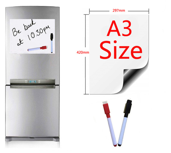 magnetic whiteboard a3 size 297x420mm fridge magnets presentation boards home kitchen message boards writing sticker 2 pen