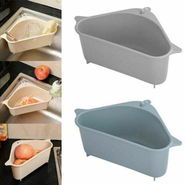 top popular Kitchen Sink Strainers Vegetable and Fruit Storage Holders Kitchen Sink Storage Box Triangle Shelf Basket Kitchen Organizer 2021