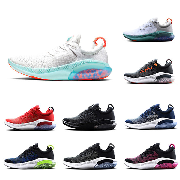 2019 Platinum Tint Black White JOY RUN Knit FK Mens RIDE Running Shoes Racer Blue University Red Cushioning Light Men Sports Sneakers 40 45 Shoe