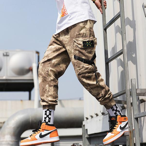 Дизайнерские мужские брюки Новые модные брюки с карманами в стиле хип-хоп Свободные лучевые повседневные лямки Девять очков Спортивные штаны для мужчин Лето