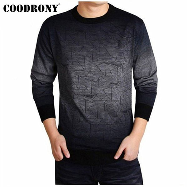 COODRONY Cashmere Sweater Men Brand Clothing Mens Sweaters Print Casual Shirt Autumn Wool Pullover Men O-Neck Pull Homme Top 613 SH190914