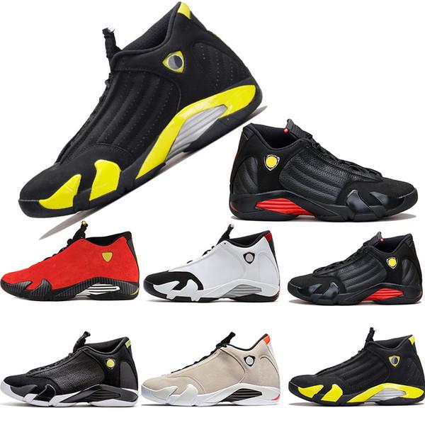 Men Designer 14 14s Thunder the last shot Basketball Shoes Desert Sand DMP Black Toe Red Mens Sports Trainers Sneakers size 8-13