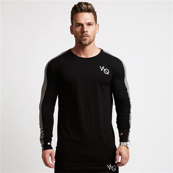 Sweatshirts Yoga shirt de manga comprida camisola T-shirt masculino que funciona Jogging lazer treino atlético da aptidão camisas Além disso,