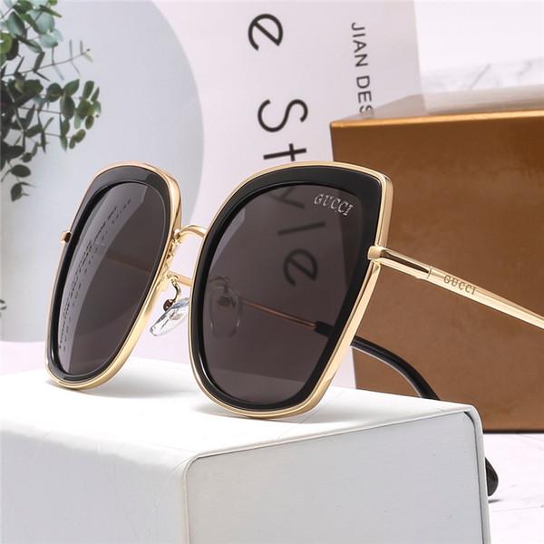High-end lüks markaları erkek ve kadın gözlük moda önyargılı parlak gözlük Çerçevesiz güneş gözlüğü kutusu ile yüksek kalite A087