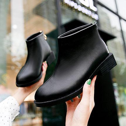 Дамы плоский каблук короткие носимых сапоги Женская обувь девушки обуви ботильоны квартиры прохладный Мартин сапоги толстые коренастый пятки быстрая доставка