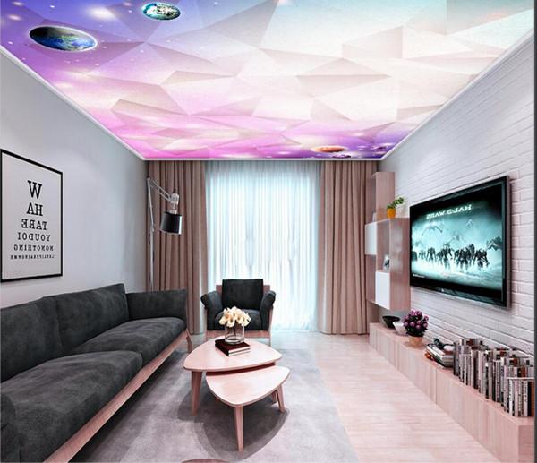 Carta da parati moderna stellata minimalista minimalista con soffitti di zenith 3D