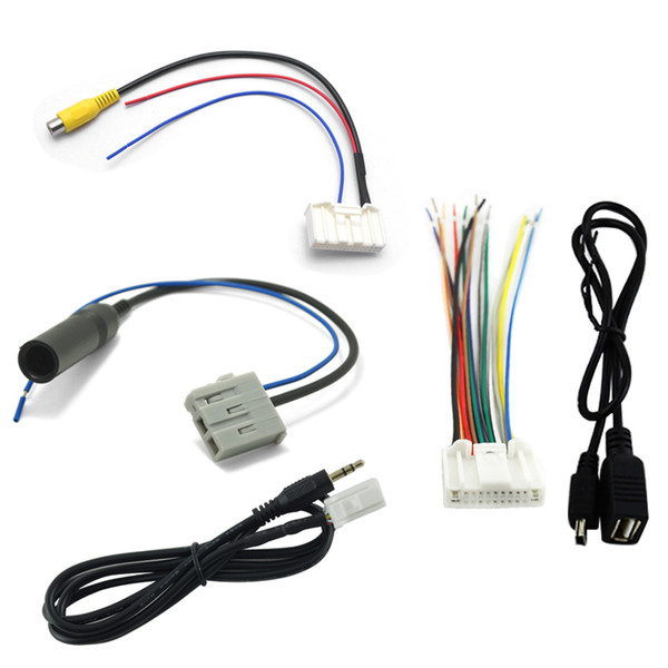 wholesale 5Pcs/Pack Suit Car Audio Stereo Wiring Harness Adapter Plug For Nissan/Teana/X-Trail/Qashqai OEM Factory CD Radio #2132