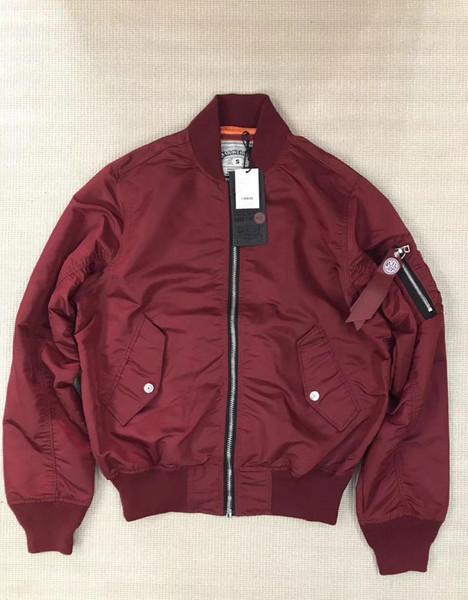 Толстые Теплый SMOKE RISE MA1 способа куртки Side Zip дизайн Ma-1 Flight молнии куртки осень зима куртки ветровки