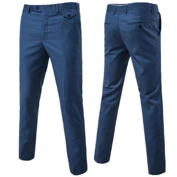 La nuova moda 2019 di alta qualità Slim business Il migliore uomo solido elegante casual pantaloni casual da sera pantaloni abito S-6XL