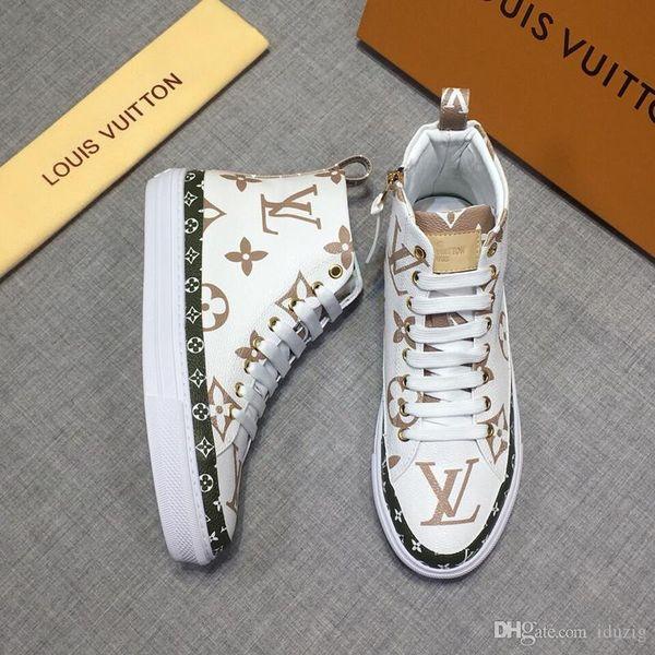 Iduzi Sneaker Denim Monogram Luxusmarken Mans Lace Up Sneakers Fashion Herren Trainer Designer Outdoor Casual Bergsteigen Schuhe