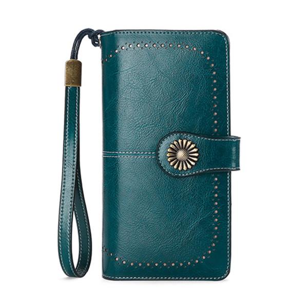 SENDEFN Women Clutch Leather Wallet Female Long Wallet Women Zipper Purse Strap Money Bag Purse For Iphone 7 5162-67