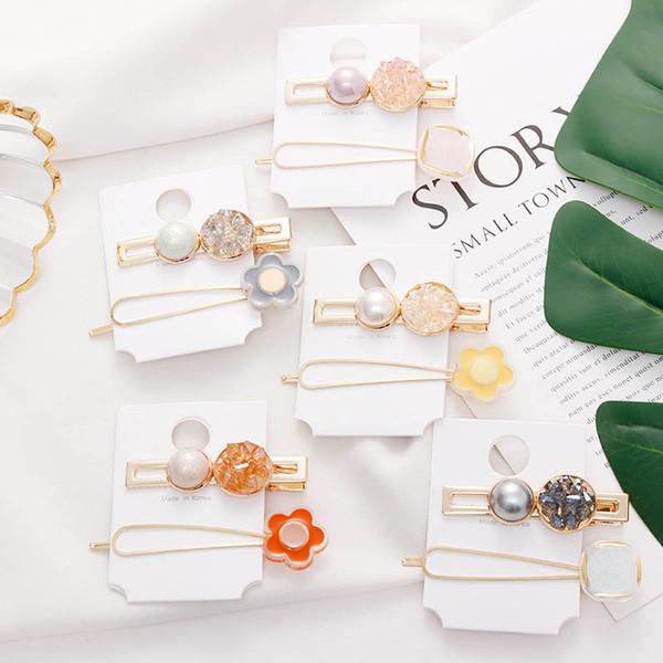 Fashion pearl girls hair clips diamond kids barrettes designer hair accessories for women BB clips designer hair clips women A6705