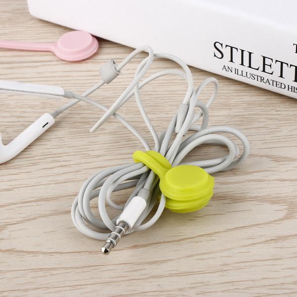 Zufällige Farbe !! 5 stücke Modische multifunktionale Magnet Kopfhörer Kabelaufwicklung Kabelhalter Organizer Clips