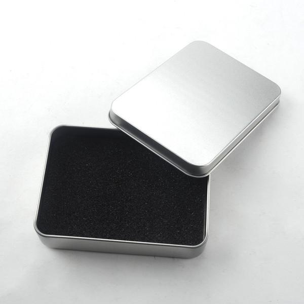 Estanho Caixa De Armazenamento De Metal Caso Organizador De Dinheiro Moeda Doces Chaves USB Flash Disk Cards