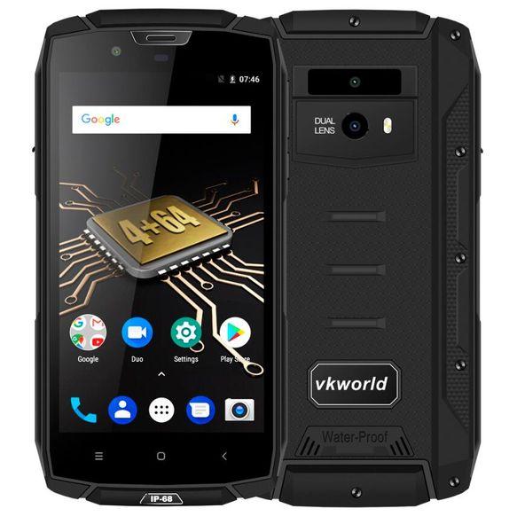 "VKworld VK7000 IP68 Waterproof Smartphone 5.2"" MTK6750T Octa Core Android 8.0 Dual SIM Mobile Phone Fingerprint 4GB RAM 64GB ROM"