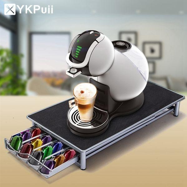 Acier inoxydable 36 tasses Capsules de café Nespresso Supports de rangement pour pod