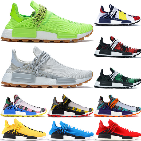 best selling NMD human race know soul breath though running shoes men women BBC Multi Color Pharrell Williams Nude oreo mens desigenr sneakers with box