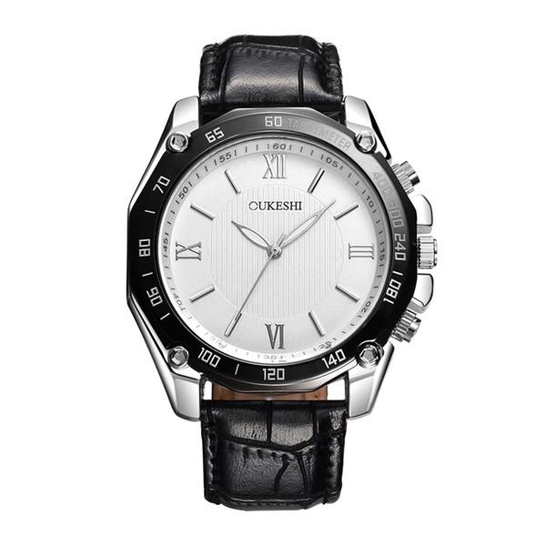 Fashion Stud Roman Scale Waterproof Belt Quartz Men's Watch