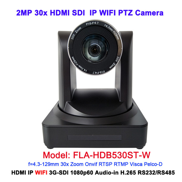 Best Quality black 1080p 50/60fps 30x Optical zoom Video Conferencing Professional IP Video Wireless Camera with hdmi 3g-sdi out