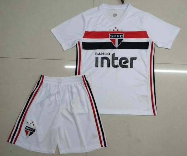 2019 Sao Paulo Yetişkin futbol forması ev beyaz 19 20 NENE DIEGO SOUZA B. ALVES 2019 2020 CUEVAS JUCILEI Erkekler Futbol formaları üniforma kiti