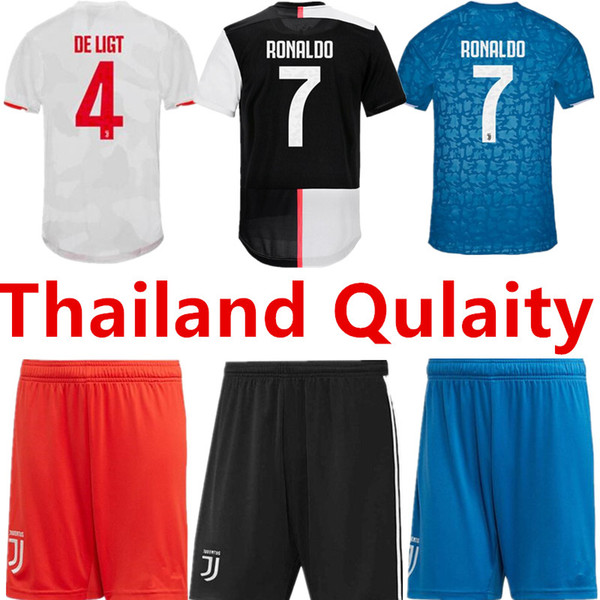 JUVENTUS Futbol Şort Tayland 2019 RONALDO Futbol Formalar 2020 Ev DE ligt Camisetas Futbol CAMISAS Maillot Futbol Gömlek Oyuncu Versiyonu