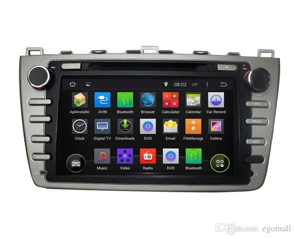 Kapazitiver Touch Screen 100% Android 4,4 8 Zoll Auto DVD GPS für Mazda 6 2008-2012 stützen DVR OBD, das in WiFi 3G mit Canbus errichtet wird