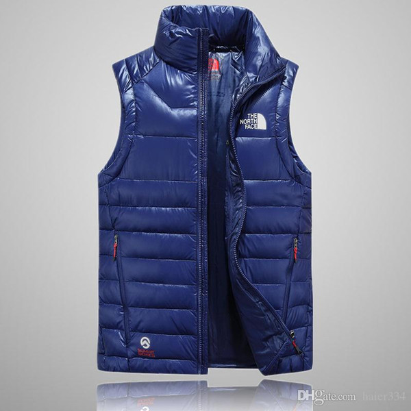 2018 top quality Men Wear Thick north Winter Outdoor Heavy Coats Down VEST mens face jackets Clothes 505