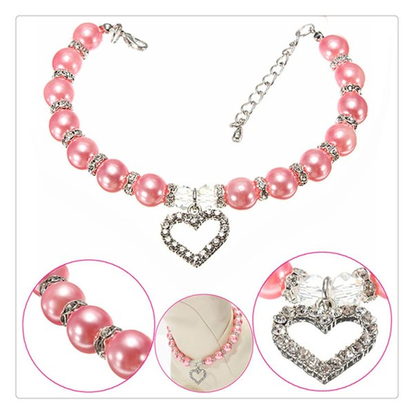 Pet Decor Collar Pearl Necklace Fashion Puppy Dog Cat Piggy Pendant Dogs Cats Collar Pet Accessories Perfect Gift Holiday