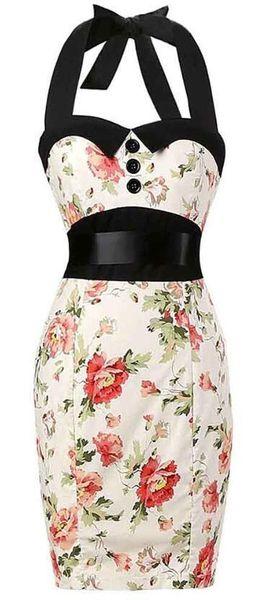 retro halter dress