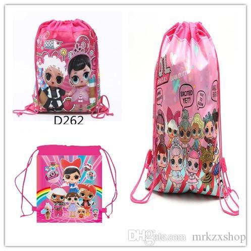 new Cartoon storage bags Birthday Party for Girls doll Christmas Gift Bag drawstring pocket backpack kid toys package Swimming beach bag