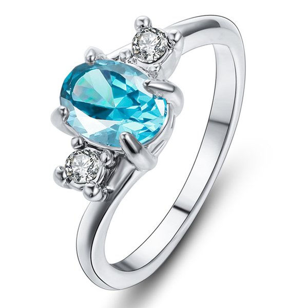 Işık göl mavi elmas yüzük