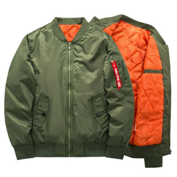 MA-1 Thick Winter Flight Jacket High Quality Tactical Bomber Jacket Padded Airborne Flight Army Coat